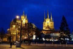 Erfurter Dom in Abend